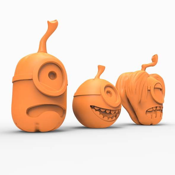 Pumpkin minion 3D print - 3DOcean Item for Sale
