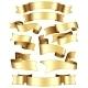 Gold Ribbon Set - GraphicRiver Item for Sale