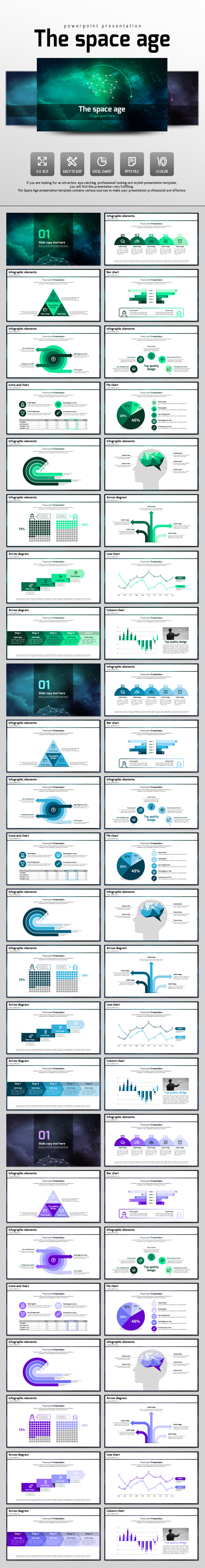 The Space Age - PowerPoint Templates Presentation Templates
