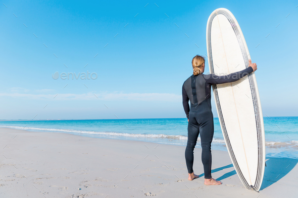 Waitming for a perfect wave - Stock Photo - Images