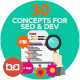 Flat Concepts for SEO & Development - GraphicRiver Item for Sale