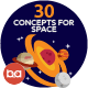 Flat Concepts for Space & Universe - GraphicRiver Item for Sale