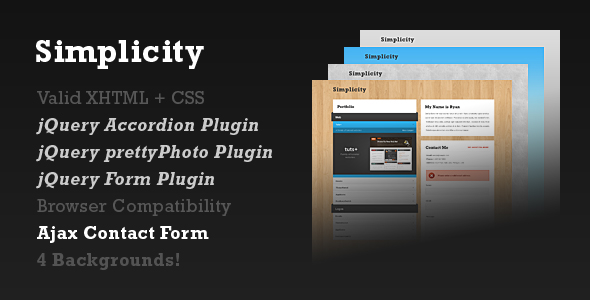Free Download Simplicity - One-Page Portfolio Nulled Latest Version