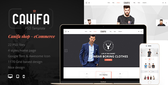 Canifa - eCommerce PSD Templates - Fashion Retail
