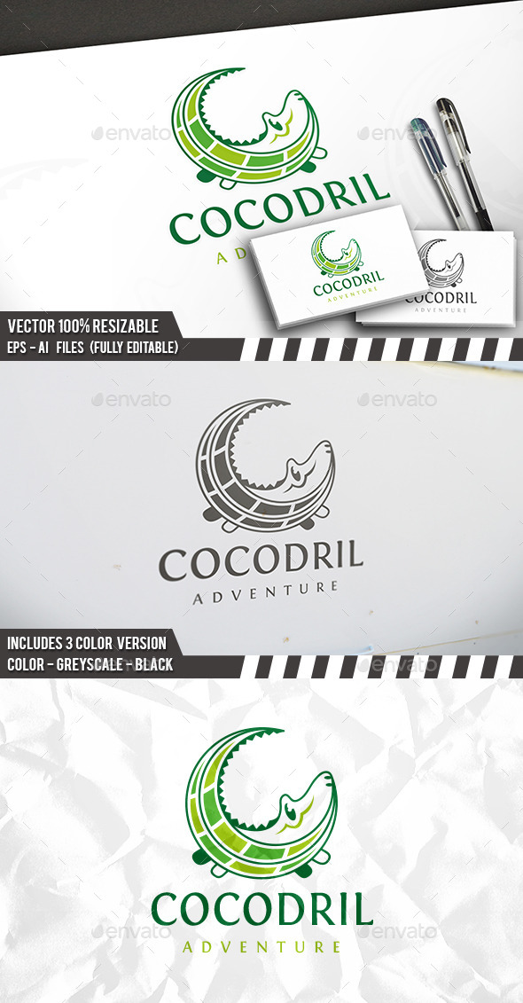 Crocodile Logo - Animals Logo Templates