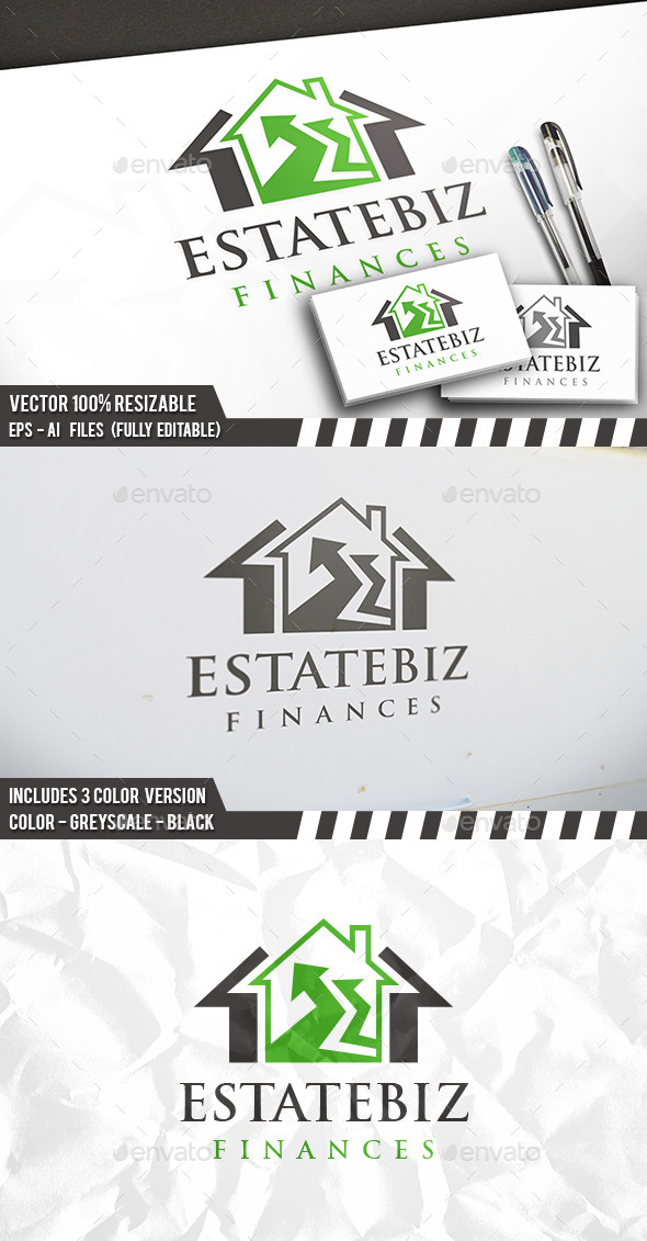 Invest Real Estate Logo - Buildings Logo Templates