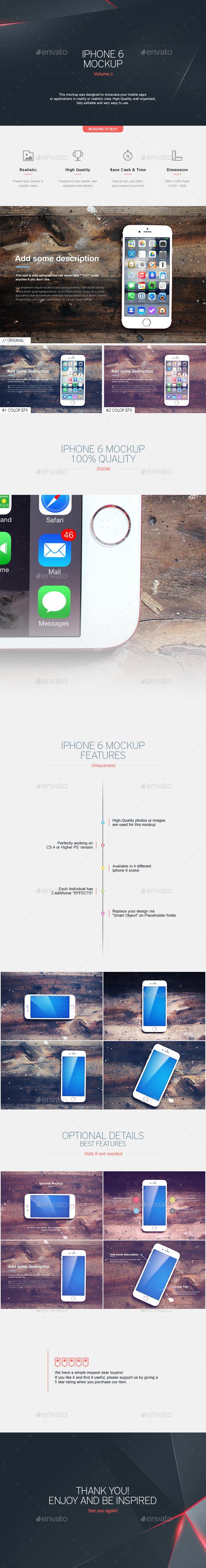 Iphone 6 Mockup V.2 - Mobile Displays