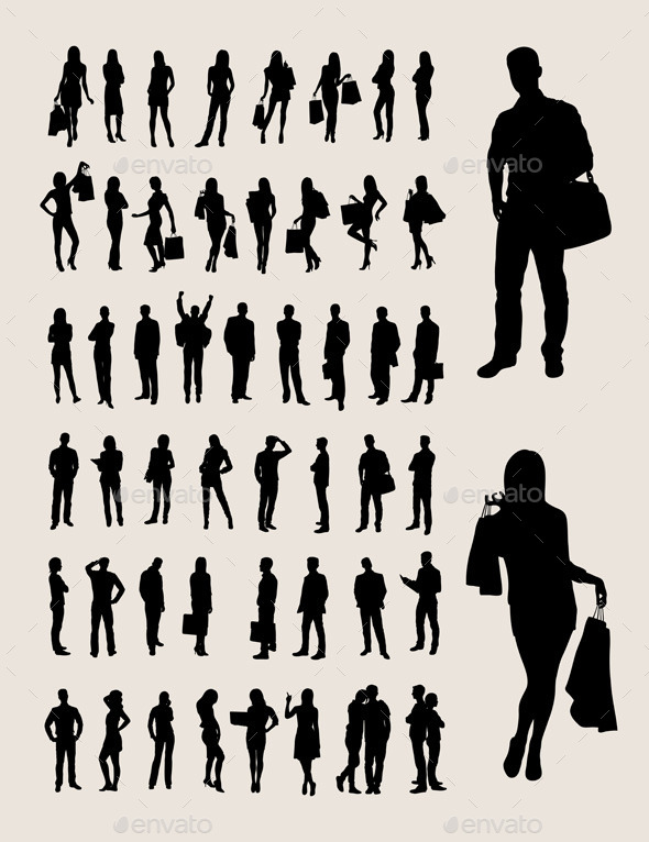 Silhouette Collection - People Characters