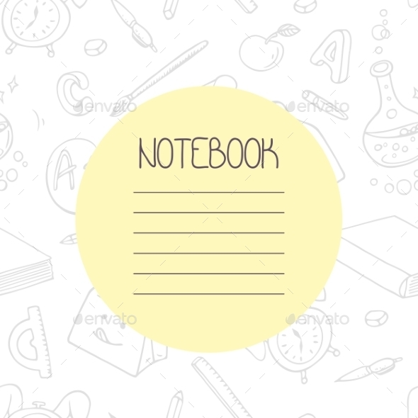 Back To School Outline Doodle Notebook Design - Backgrounds Decorative