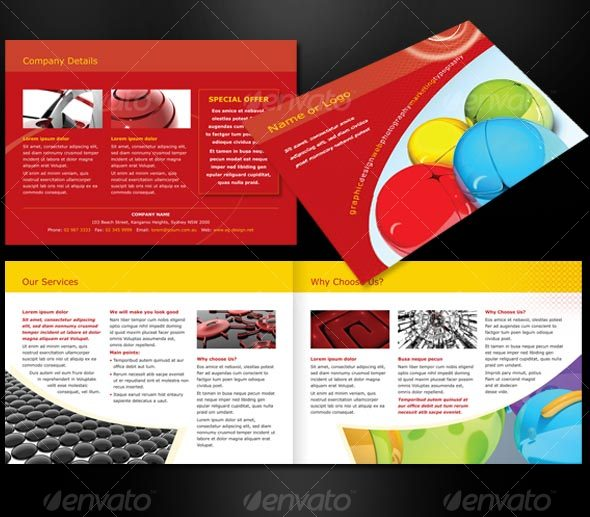 a5 brochure template - a5 landscape 4 page brochure by peterpap graphicriver