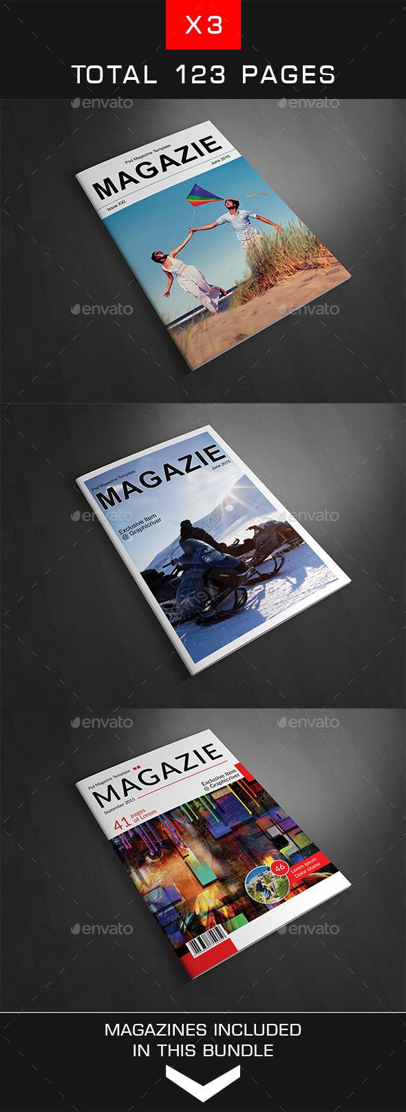 A4 Magazine Bundle Vol. 5 - Magazines Print Templates