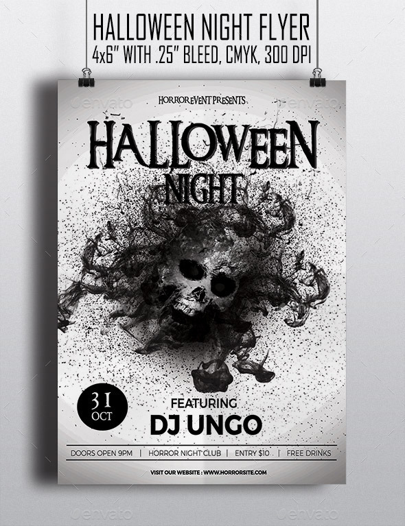 Halloween Night - Flyer - Clubs & Parties Events