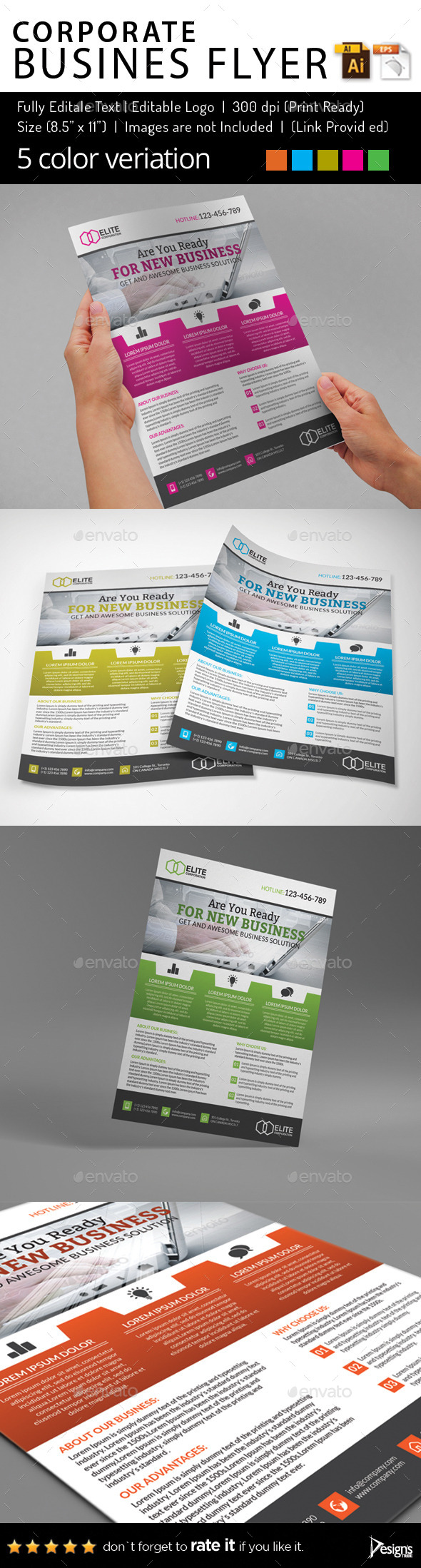 Multipurpose Business Flyer 75 - Flyers Print Templates
