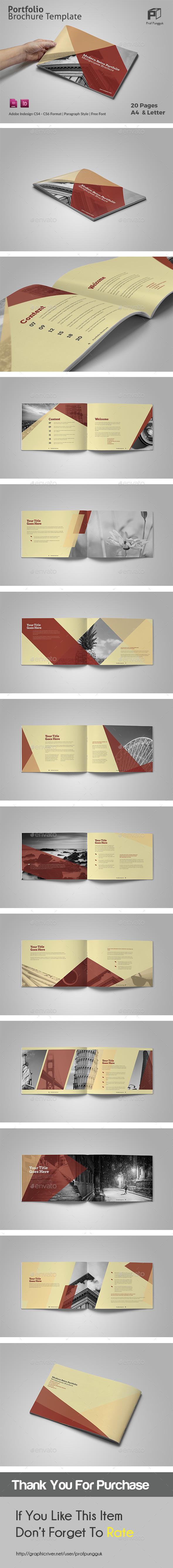 Modern Retro Brochure - Portfolio Brochures