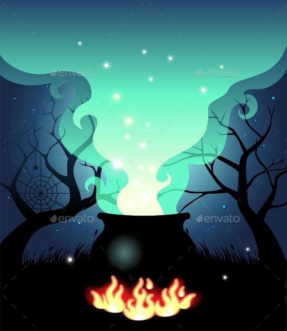 Boiling Halloween Cauldron - Halloween Seasons/Holidays
