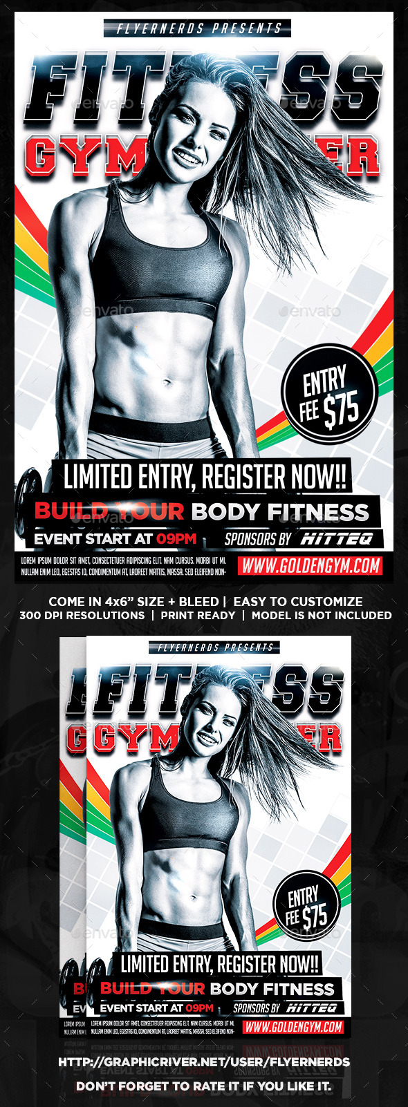 Fitness and Gym Center Sports Flyer - Sports Events