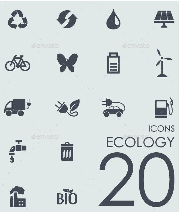 Set of Ecology icons - Icons
