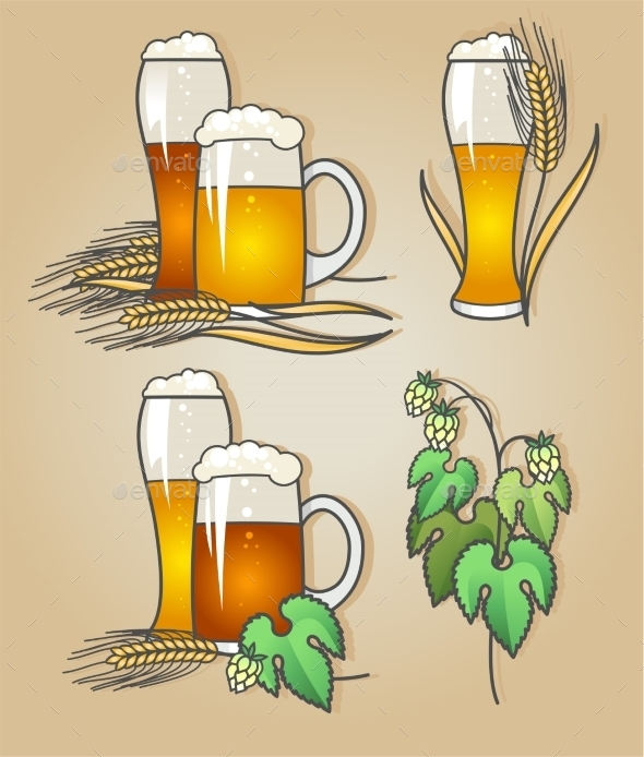 Set Of Beer - Decorative Symbols Decorative