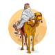 Arabian Bedouin Riding A Camel, Al Hijra Islamic - GraphicRiver Item for Sale