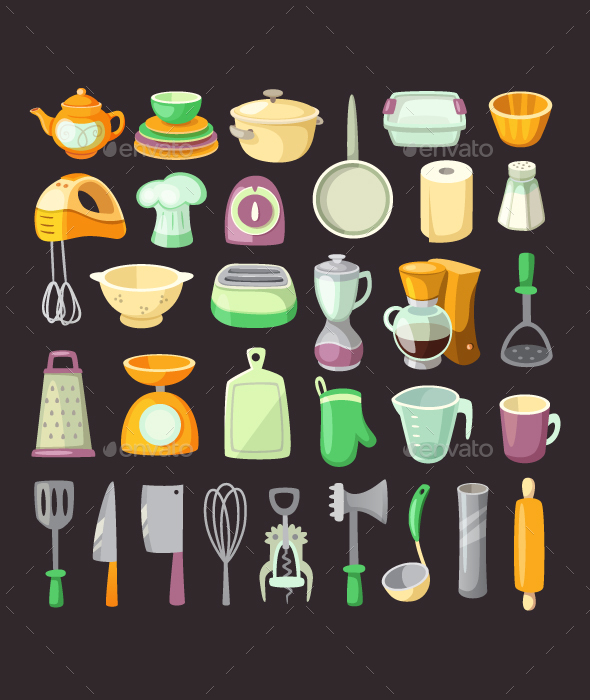 Kitchen Utensils. - Man-made Objects Objects