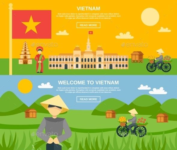 Vietnam Banner Set - Nature Conceptual