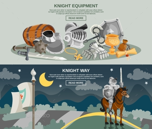 Knight Banner Set - Miscellaneous Vectors