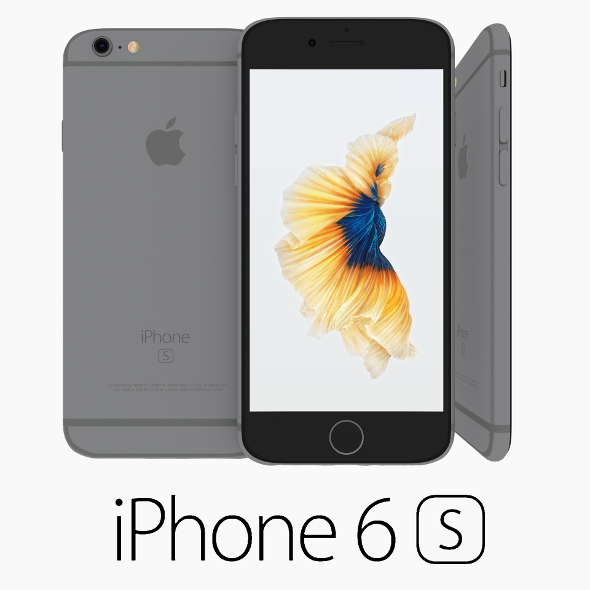 Iphone 6S Space Gray - 3DOcean Item for Sale