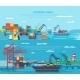 Sea Port Horizontal Banner Set - GraphicRiver Item for Sale
