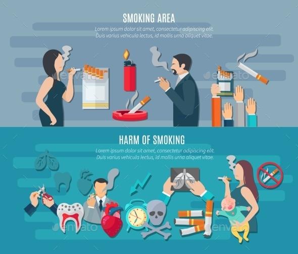Smoking Banner Set - Miscellaneous Vectors