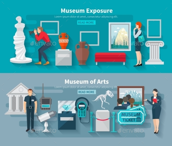 Museum Banner Set - Miscellaneous Vectors
