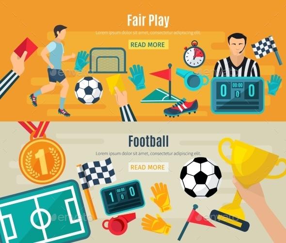 Soccer Banner Set - Sports/Activity Conceptual