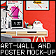 Art Wall and Poster Mock-up - GraphicRiver Item for Sale