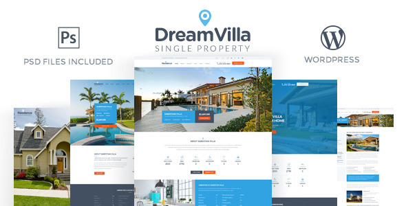 DreamVilla – Single Property WordPress Theme