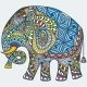 Vector Color Decorated Indian Elephant - GraphicRiver Item for Sale