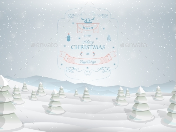 Christmas Greeting Card Template Vector.  - Christmas Seasons/Holidays