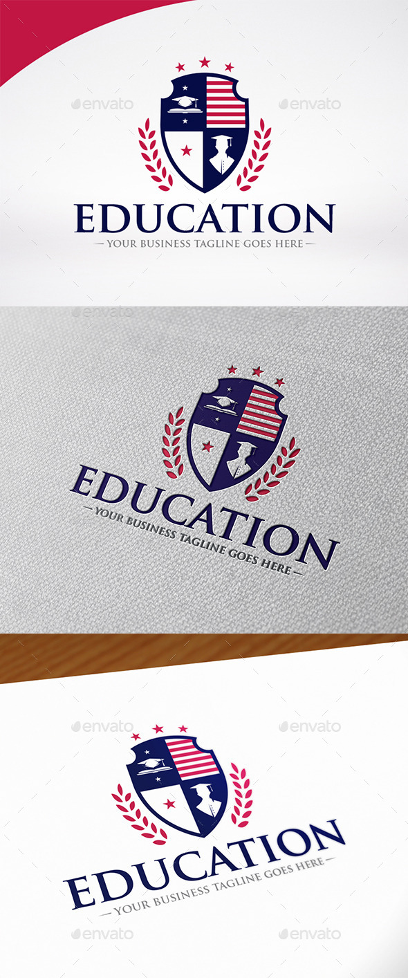 Education Shield Logo Template