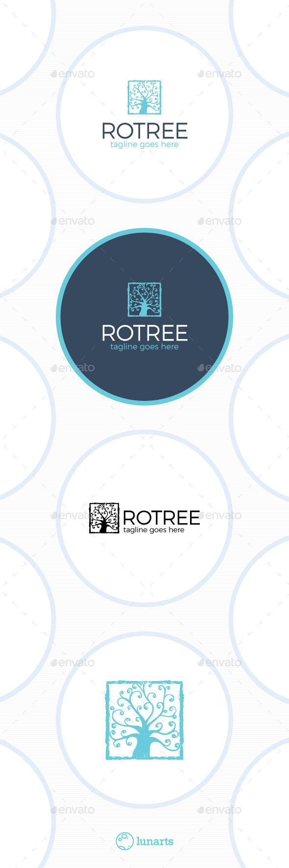 Royal Tree Logo - Luxury Square - Nature Logo Templates