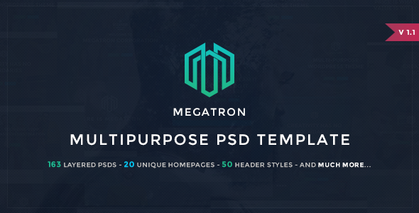 Megatron - Multipurpose PSD Template - PSD Templates