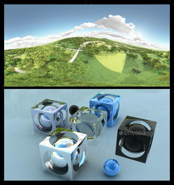 Distant Fields - HDRI - 3DOcean Item for Sale