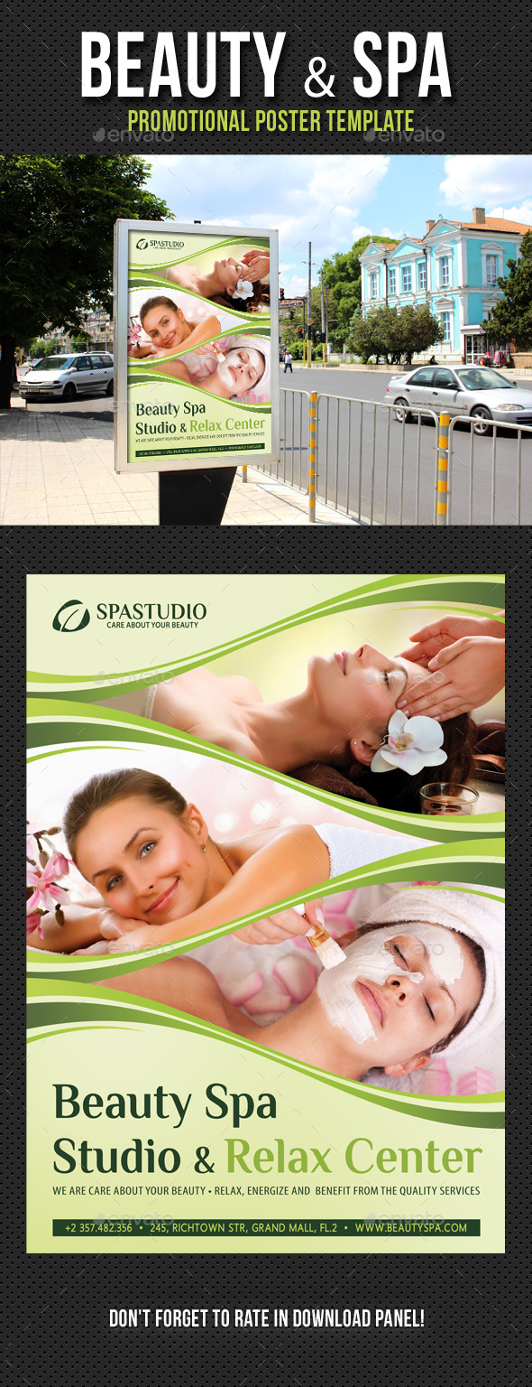 Beauty and Spa Poster Template V01 - Signage Print Templates