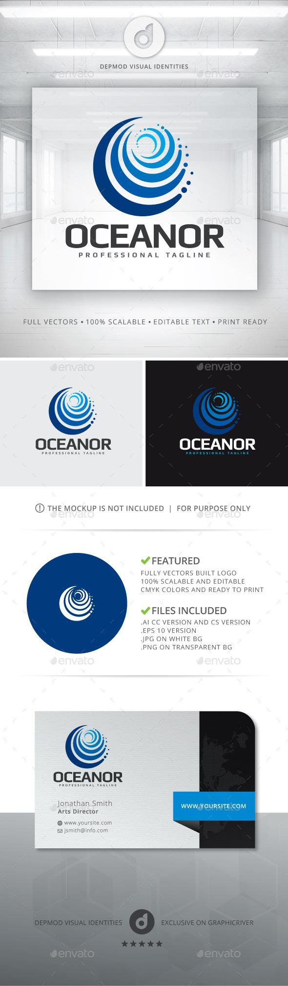 Oceanor Logo - Abstract Logo Templates