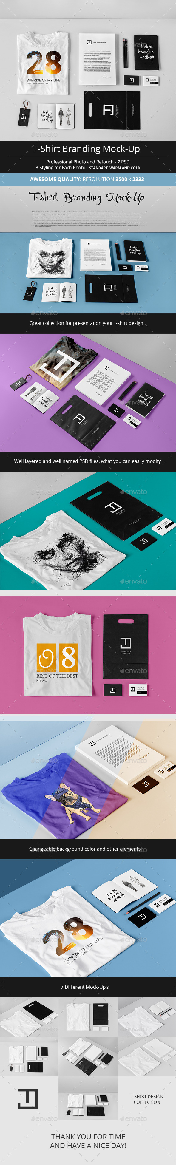 T-Shirt Branding Mock-Up - T-shirts Apparel