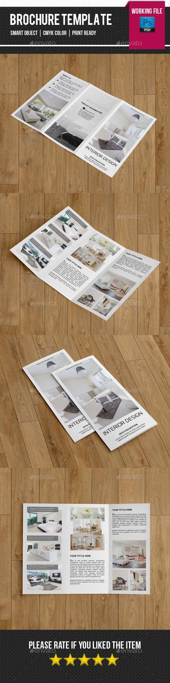 Minimal Interior Trifold Brochure-V259 - Corporate Brochures
