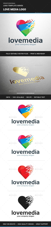Love Media Logo Template - Symbols Logo Templates