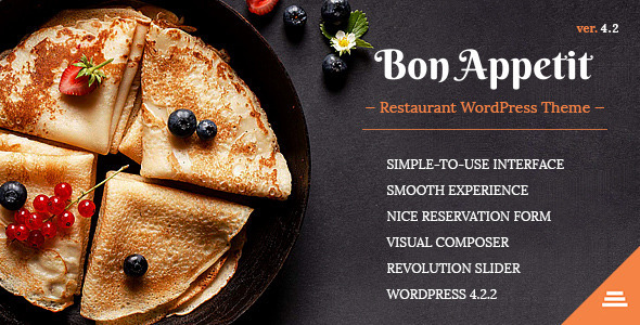 Bon Appetit - Restaurant WordPress Theme
