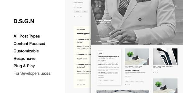 D.S.G.N – Grid Based, Premium Tumblr Theme