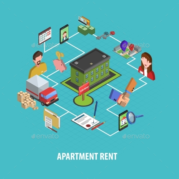Real Estate Rent Concept - Business Conceptual