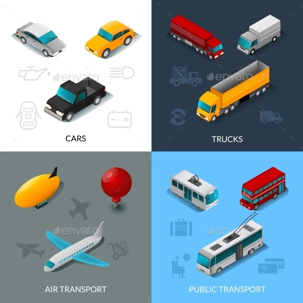 Isometric Transport Set - Miscellaneous Vectors