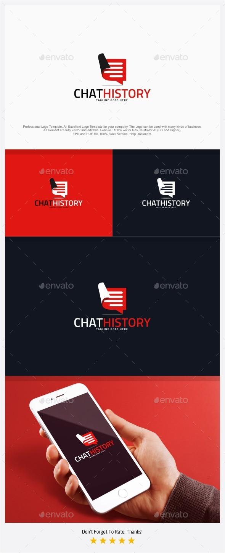 Chat History - Swipe Chat Logo - Symbols Logo Templates
