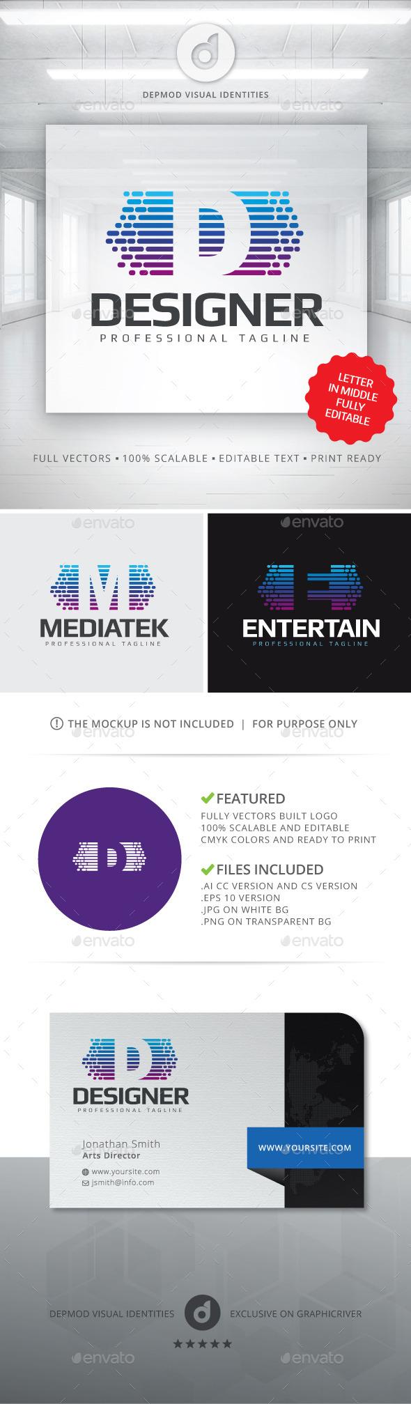 Editable Letter Logo - Letters Logo Templates